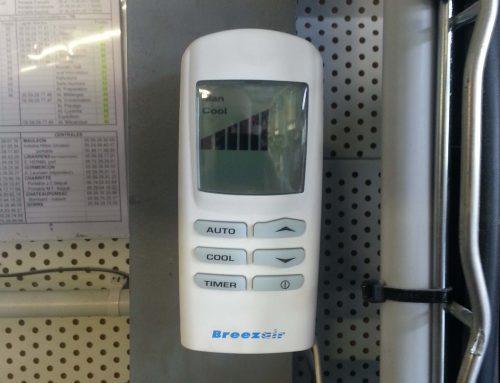 Commande climatisation rafraichie