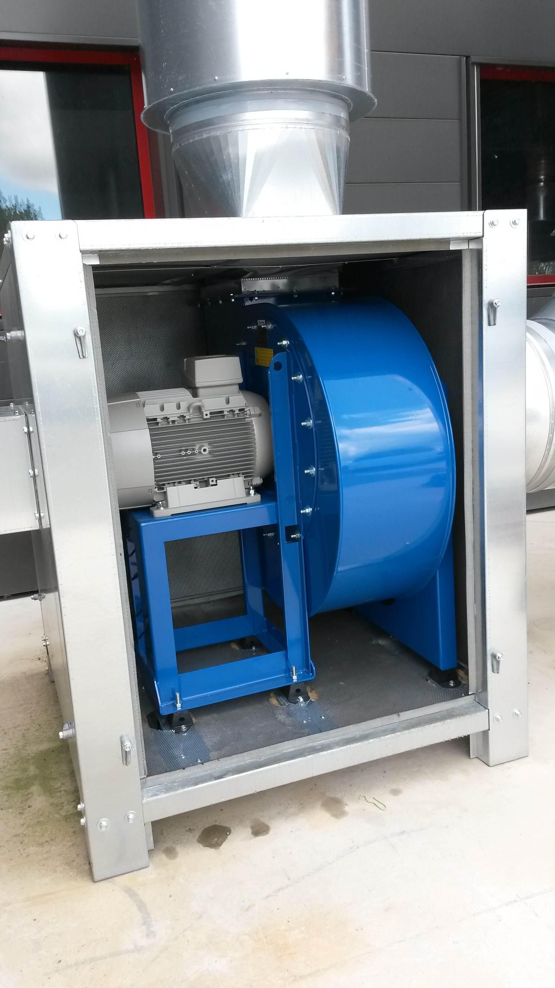 ventilateur dans insonorisateur
