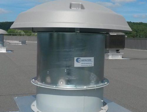 Ventilateur extracteur de toiture avec volet à fermeture automatique