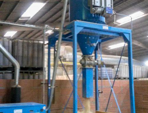 Depoussiereur de nettoyage centralise pour aspiration poussieres terre issues de briqueterie tuilerie