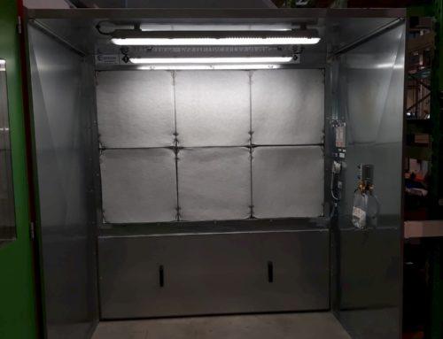 Cabines aspirantes en acier galvanisé pour le secteur de l'aéronautique