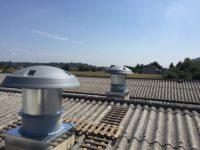 Tourelle ventilation en toiture sur souche toiture.