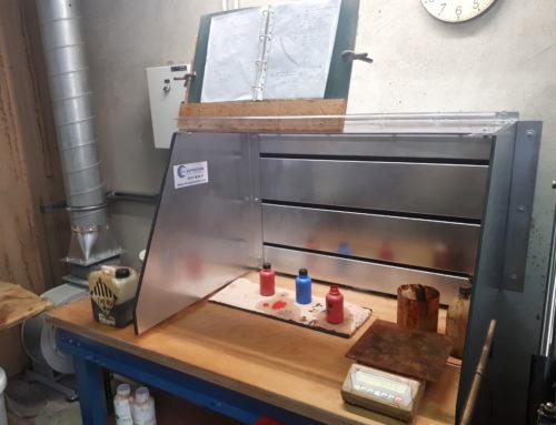 Ventilation industrielle pour préparation peinture