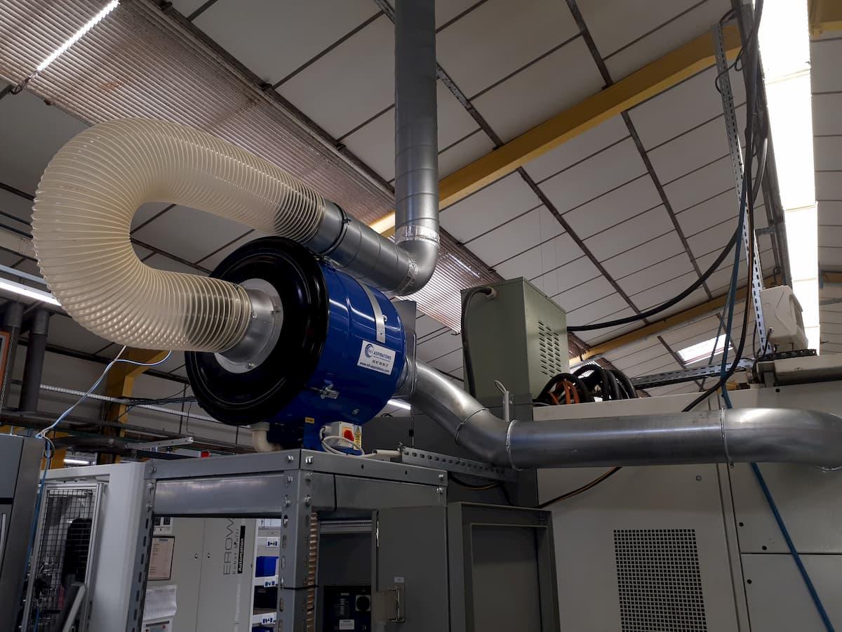 Épurateur brouillard d'huile sur machine outil