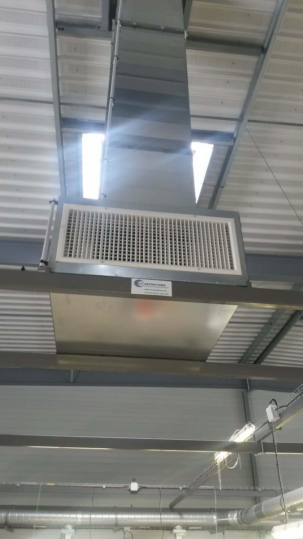 Diffuseur ventilation rafraichie