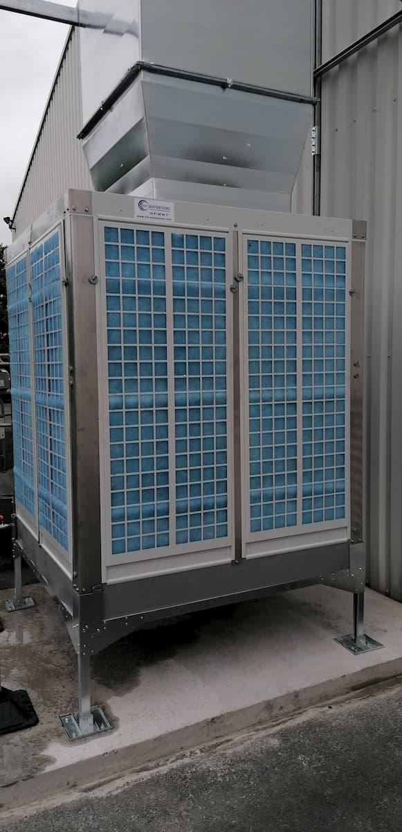 Installation d'un rafraichisseur adiabatique en milieu industriel