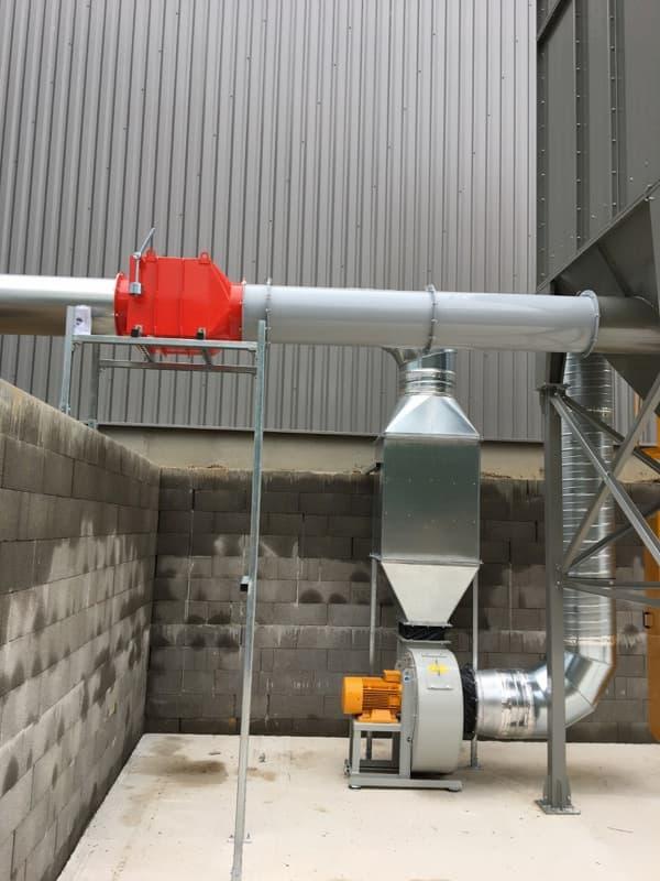 Clapet anti-retour et ventilateur ATEX