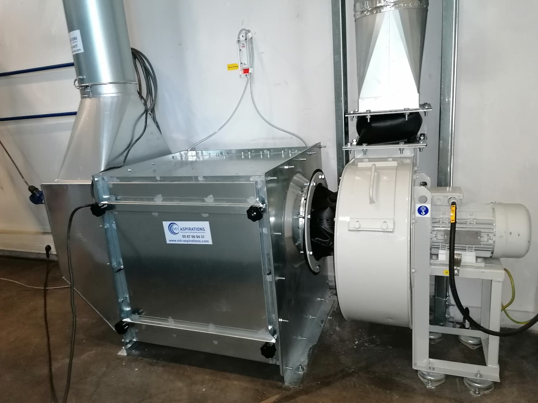 Groupe filtration avec ventilateur